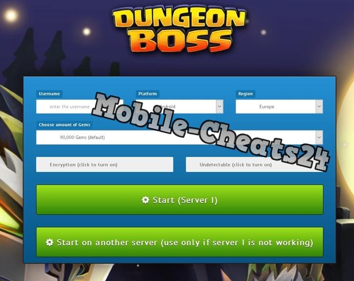 Dungeon Boss Generator Online