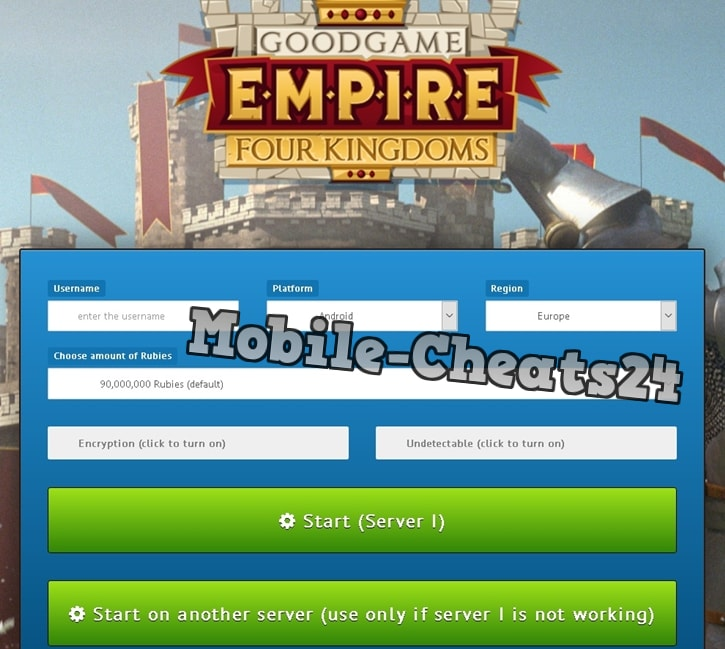 Empire Four Kingdoms Online Generator