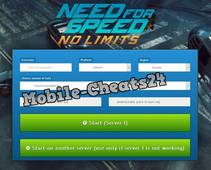 Need For Speed No Limits Generator Online